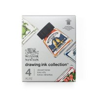 Winsor & Newton Drawing Ink Set of 4 Vibrant Tones